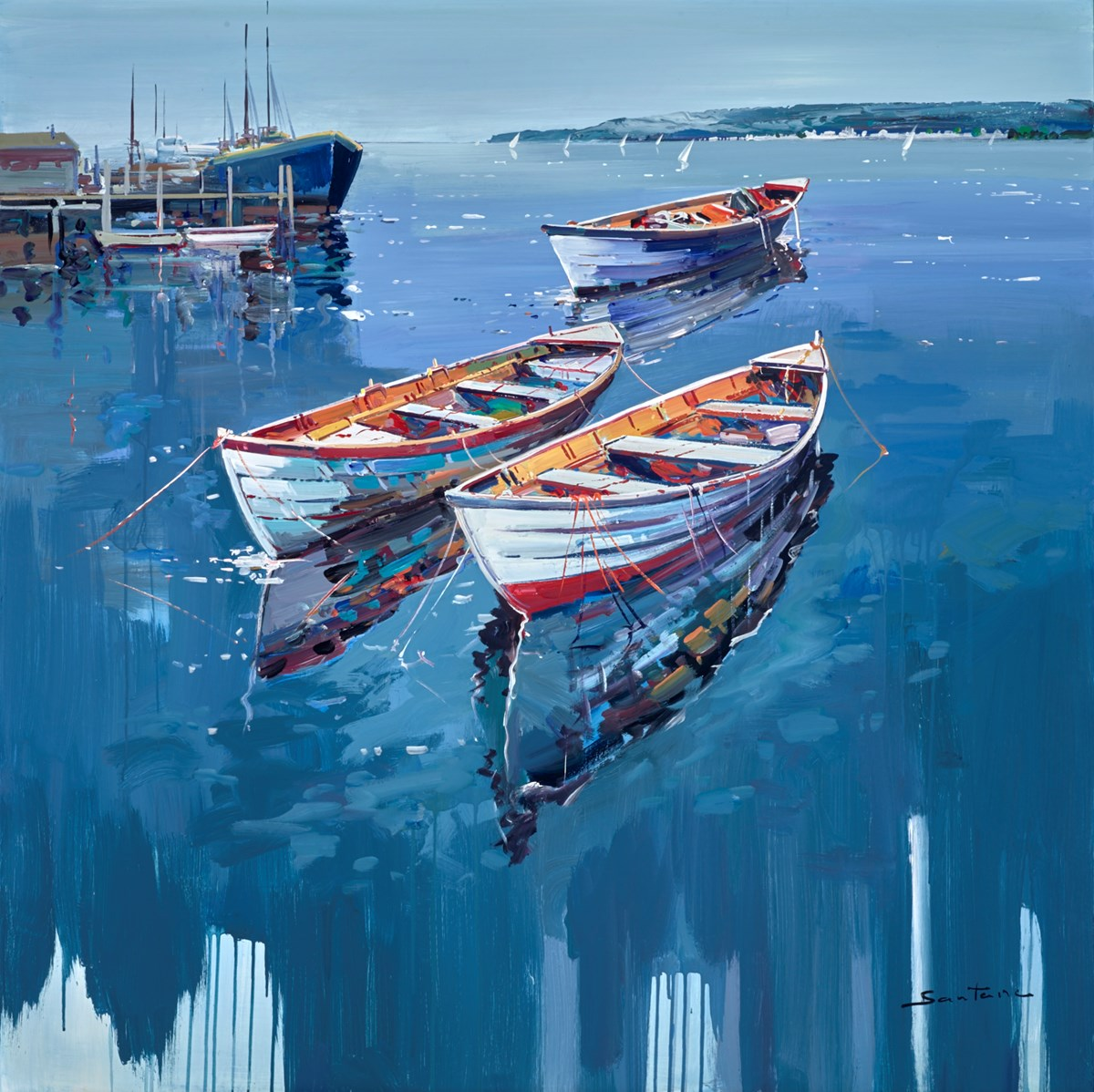 Still Waters II by santana -  sized 47x47 inches. Available from Whitewall Galleries